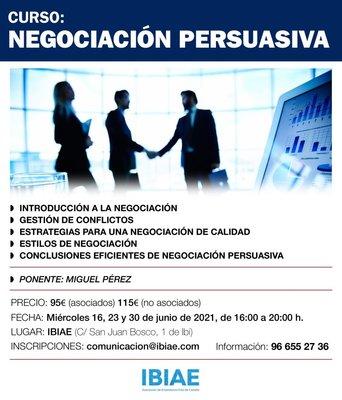 curso Negociación Persuasiva organizado por IBIAE