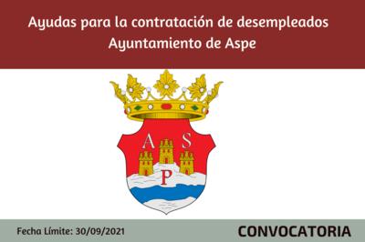 Ayudas Municipales a Empresas por Contratación de Desempleados Anualidad 2021 - ASPE