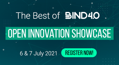"""Evento anual """"Open Innovation Showcase - The Best of BIND 4.0""""."""
