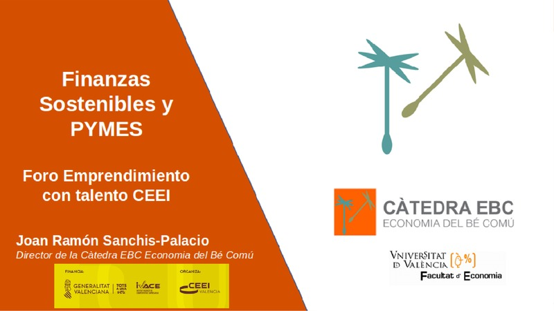 Presentación Joan Ramón Sanchis 'Finanzas sostenibles y pymes. Casos de inversión con valor añadido descarga'