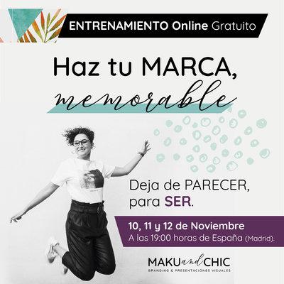 Entrenamiento Online Haz tu marca, memorable