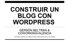 COMO CONSTRUIR UN BLOG CON WORDPRESS