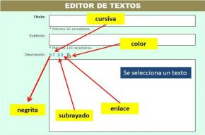 3.2. Editor de textos ¿Cómo formatear los textos?