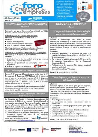 Actividades Foro Creación de Empresas MARZO 2012