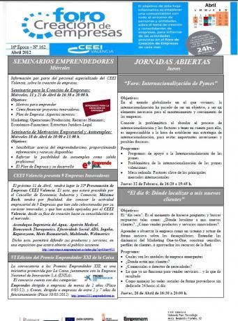 Actividades Foro Creación de Empresas ABRIL 2012