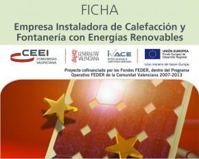 Empresa Instaladora de Calefacción y Fontanería con Energías Renovables