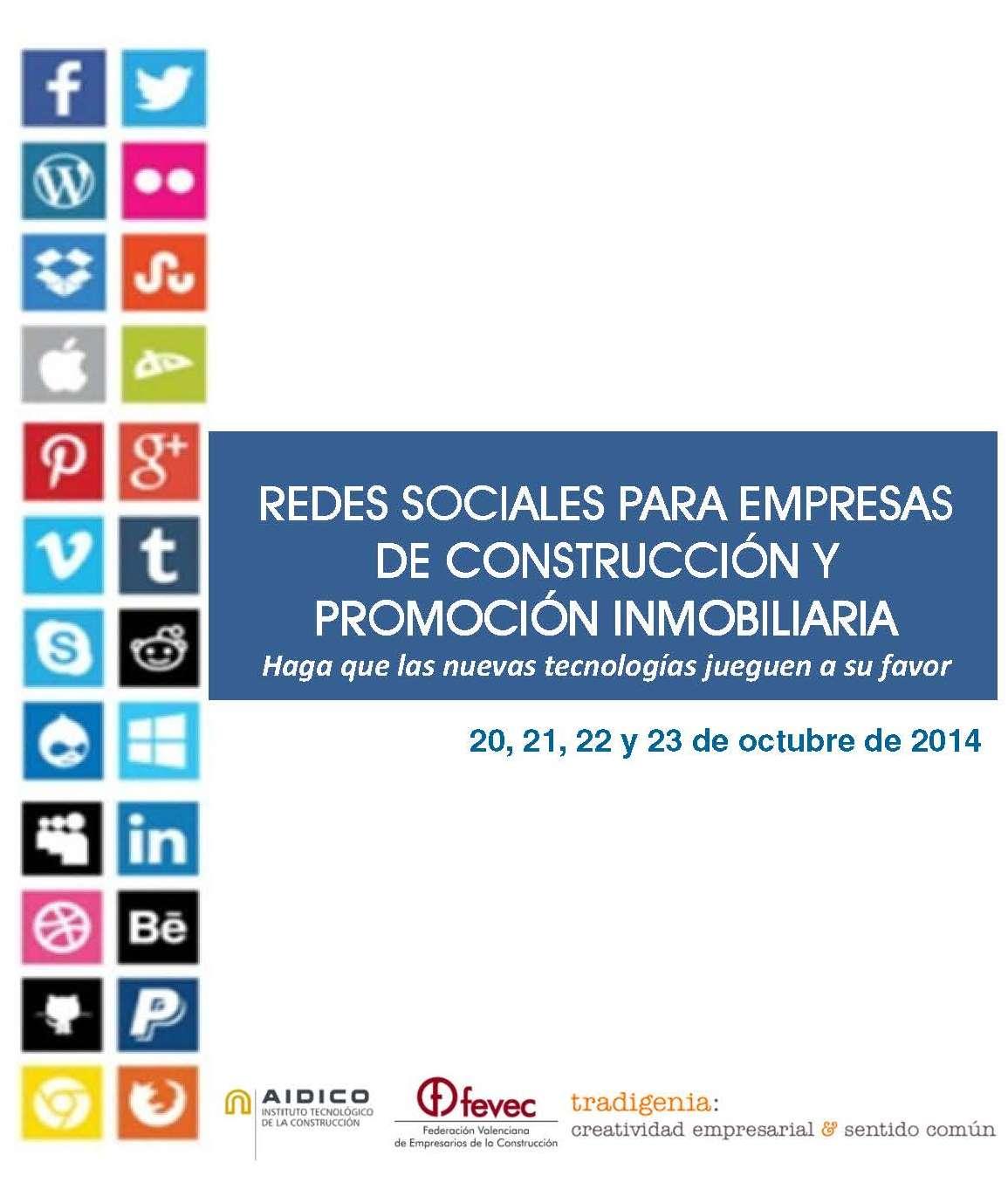 Redes sociales para empresas de construcci n y promoci n inmobiliaria programas ceei - Empresas construccion valencia ...