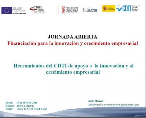 Herramientas del CDTI de apoyo a la innovación y al crecimiento empresarial