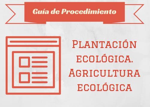Plantació ecològica. Agricultura ecològica