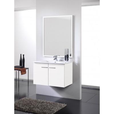 Mueble de baño blanco - 2 puertas - Suspendido. Incluye Lavabo (Ref: queen108bl)