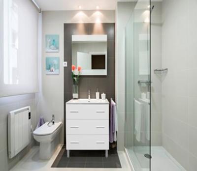 Mueble de baño blanco brillo - con patas - 3 cajones