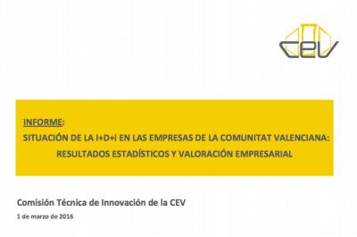 Informe Situación de la I+D+i en las empresas de la Comunitat Valenciana