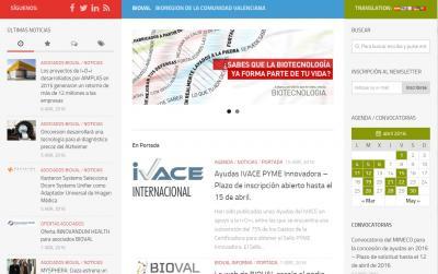 Pantallazo Web BIOVAL