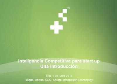 Inteligencia competitiva para start up