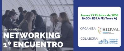 Banner 1er Encuentro Networking socios BIOVAL