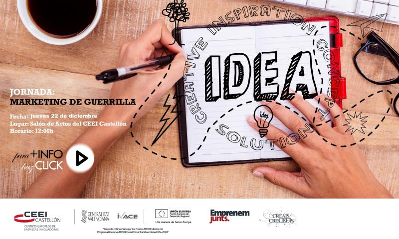 "Invitación a la jornada ""Lean MKT: Marketing de guerrilla aplicado a startups"""