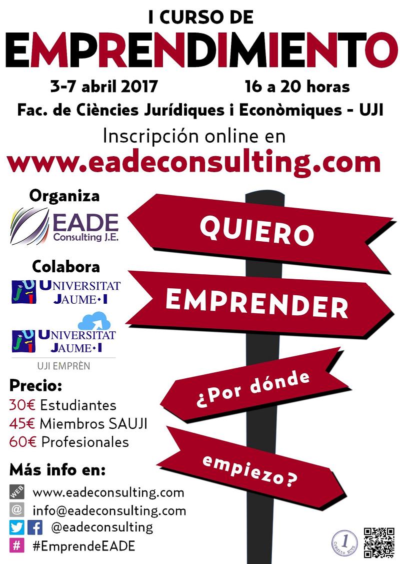 I curso de emprendimiento de eade consulting en la uji for Cursos de cocina en castellon