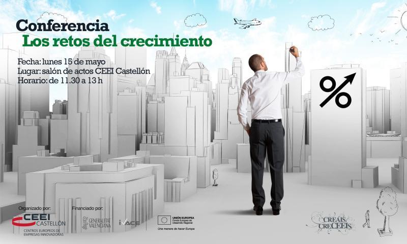 """Recordatorio: conferencia """"Los retos del crecimiento"""""""