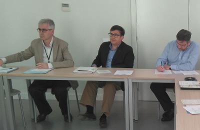 Vicente Gasent, amb Rafael Escamilla y Roberto Algarra, del grup de treball d'Europa Oportunitats