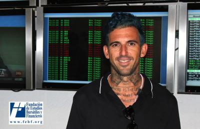 Josef Ajram en la Bolsa de Valencia
