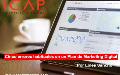 Cinco errores habituales en un Plan de Marketing Digital
