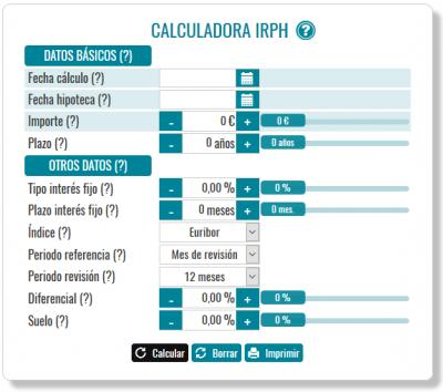 Calculadora IRPH