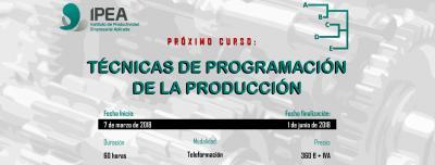 Curso de Técnicas de Programación de la Producción