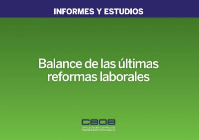 Balance de las últimas reformas laborables