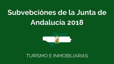 subvenciones 2018 Junta de Andalucia por Donpaginasweb