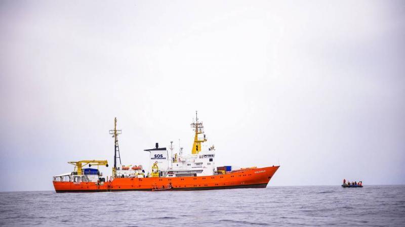 """El barco """"Aquarius"""" de la ONG francesa SOS Méditerranée. (EFE)"""