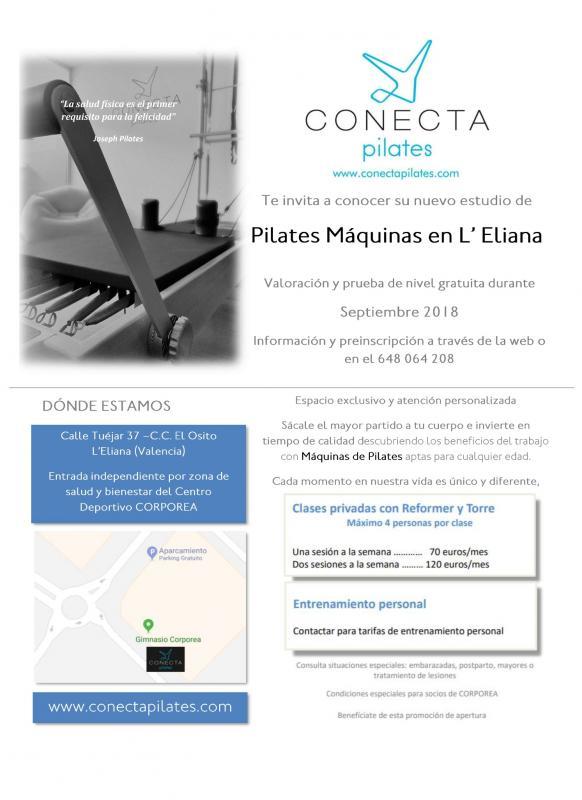 CONECTA PILATES abre su segundo Estudio de Pilates con Máquinas en L'Eliana