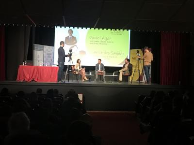 Charla coloquio Daniel Agar y Arístides Cruz San Juán