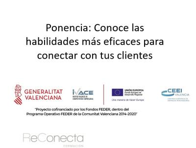Ponencia: Conoce las habilidades más eficaces para conectar con tus clientes
