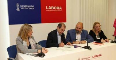 Firma convenio de Labora y Mancomunidad Tierra del Vino