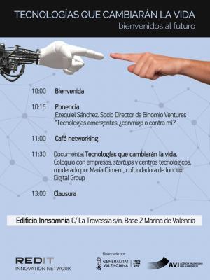 Cartel Jornada Redit Valencia 9 julio