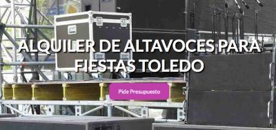 Anuncio - Alquiler Sonido Toledo