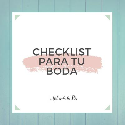 Checklist boda descargable