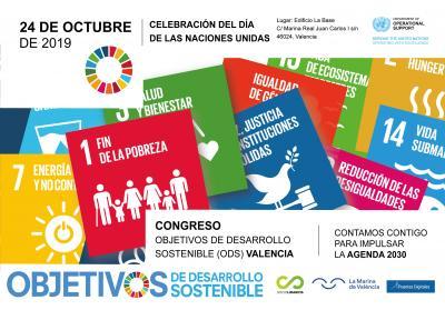Cartel Congreso ODS 2019 en Valencia