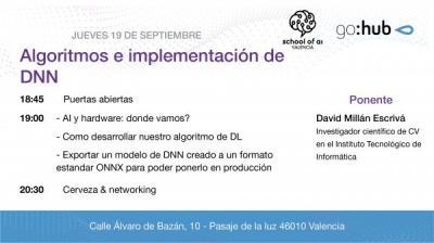 Algoritmos e implementación de DNN