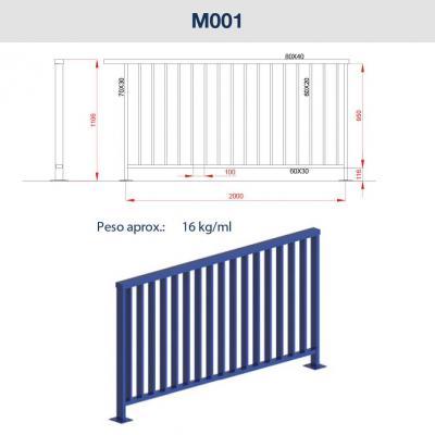 Barandillas de acero: sistemas de contención para peatones