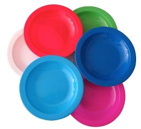 platos de plastico