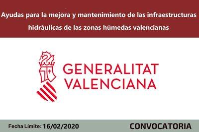 Ayudas mejora de la infraestructura hidráulica valenciana