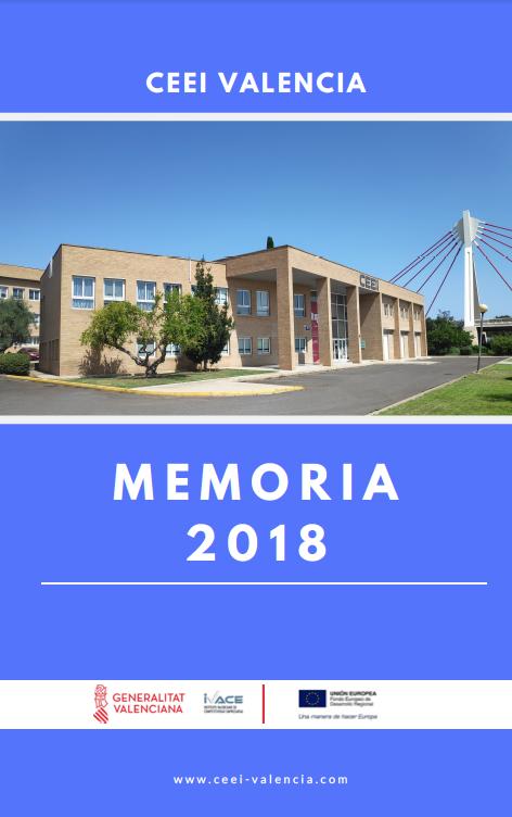 Portada Memoria Anual 2018 CEEI Valencia