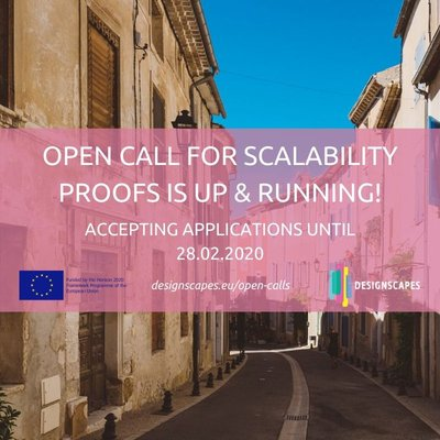 DesignCapes: Open third call for scalability tests