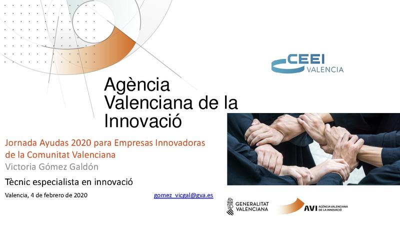 Ayudas Agencia Valenciana de la Innovación 2020