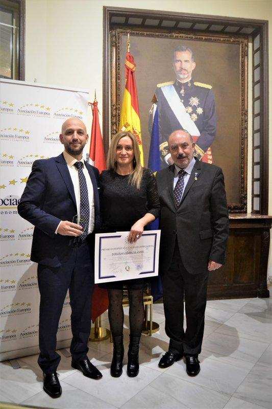 Entrega Premio Europeo Calidad Empresarial Rotulosvalencia.com