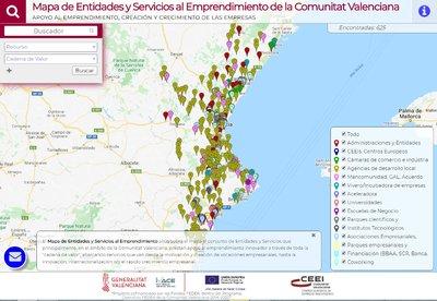 Imagen Mapa Entidades Emprendimiento CV 2020