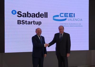 Luis Serra (Sabadell) y Jesús Casanova (CEEI Valencia)