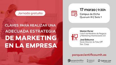 La jornada estará a cargo de los profesionales de la empresa de marketing estratégico Take Off Soc Coop, Marian Ferrer y José Belzunce