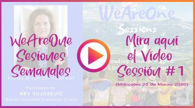 Grabación #1 WeAreOne - Sesiones Semanales